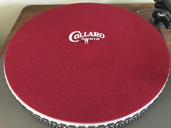 Collaro precision mat on a Garrard 401 turntable close-up image