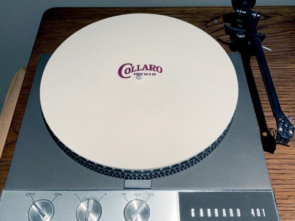 The Tempest Transcription-Turntable Mat on Garrard turntable image