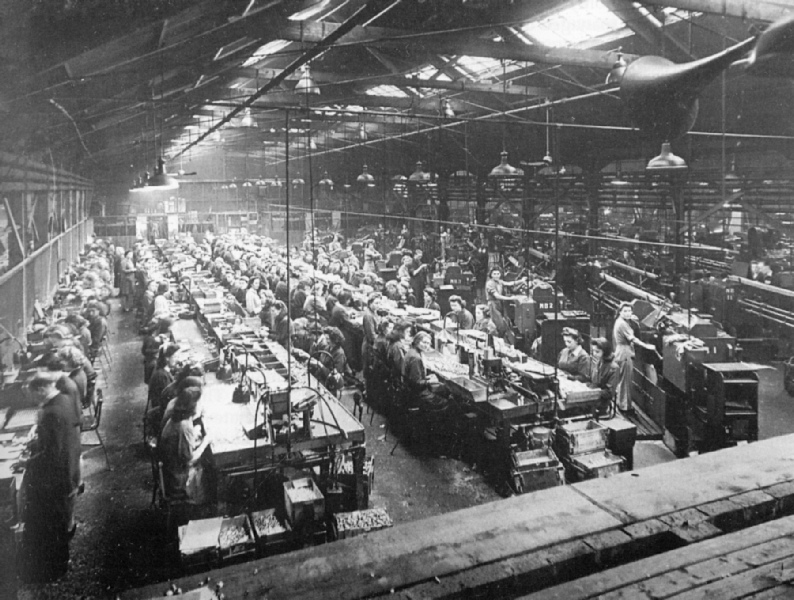 Collaro factory during World War II image