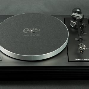 Linn LP12 with Tangerine Audio Stiletto Mk1 plinth in black fluted finish and Tangerine Audio Phoenix subchassis, with Linn Black Ittok LVII - image